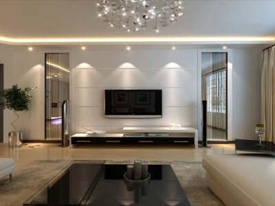 现代简约-125平米三居室装修设计
