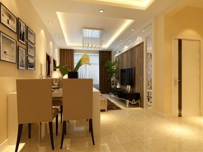 现代简约-90平米二居室装修设计