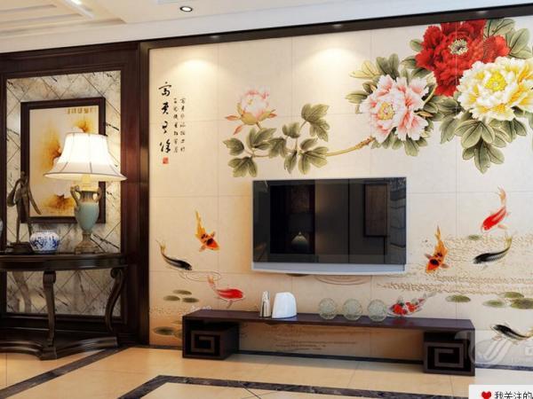 唐梦 瓷砖背景墙 文化石墙砖 富贵有余ZS1030