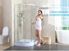 洁麦卫浴 整体浴室浴屏 钢化玻璃隔断 带挡水条JM8015A