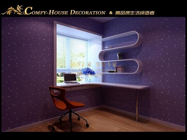 现代简约-93.87平米二居室-装修样板间