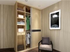 索菲亚衣柜 枫木色/索菲亚红色 平板 黑镜门板