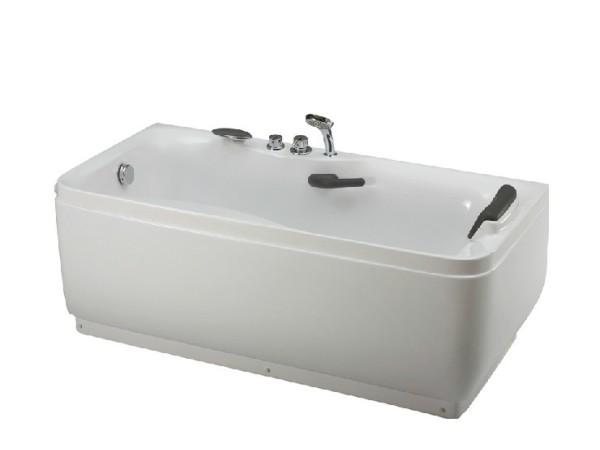 惠达全铜龙头5件套1.7米独立式亚克力浴缸