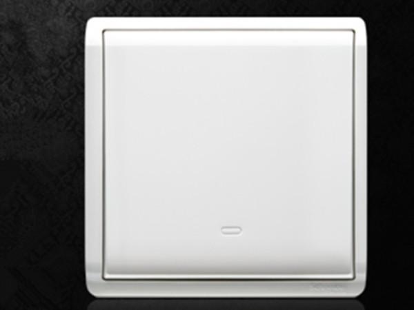 施耐德电气 丰尚雅白系列 一位单开单联单控 墙壁开关面板