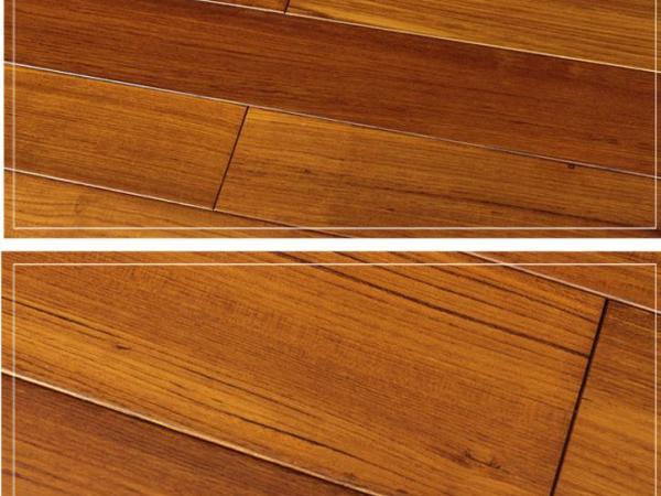 四合地板 实木柚木柚木色企口18mm