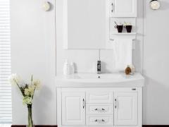 惠达卫浴 浴室柜组合洁具 HDFL6109 陶瓷盆 浴镜