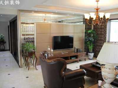 欧美风情-160平米三居室装修样板间