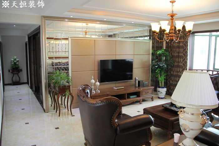 欧美风情-160平米三居室-装修样板间