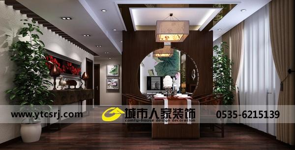 中式古典-109平米三居室-装修样板间