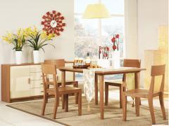 曲美家具 简约木质餐桌LZF-084-09ZC-DT1-2