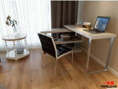 一米爱家具 简约转角电脑桌 家用写字台 书桌书架组合W201