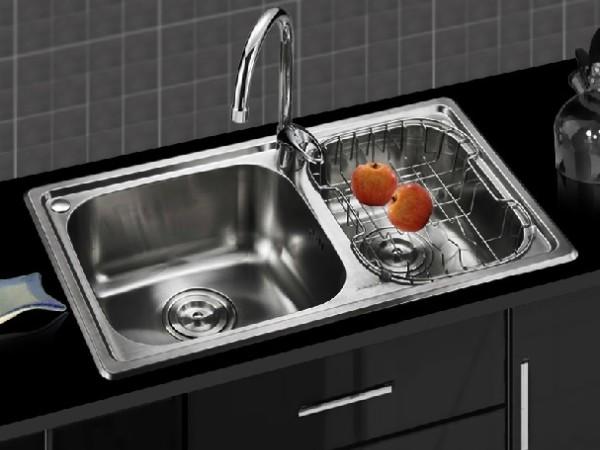 九牧 进口不锈钢厨房双槽水槽套餐 SCTC02081-001
