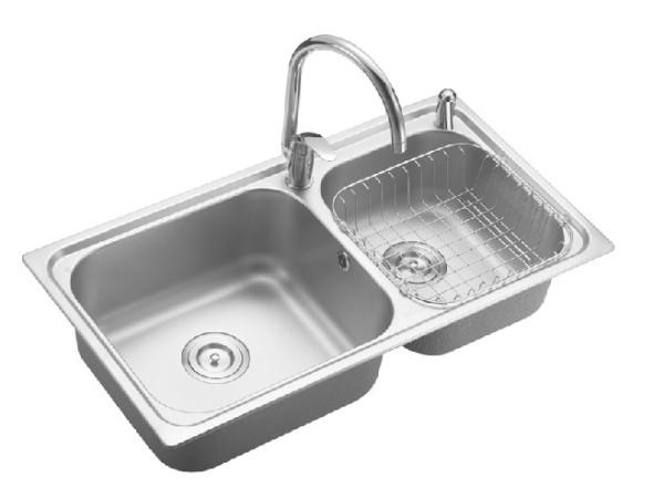 九牧 厨房双槽洗菜盆套餐02016-00-1