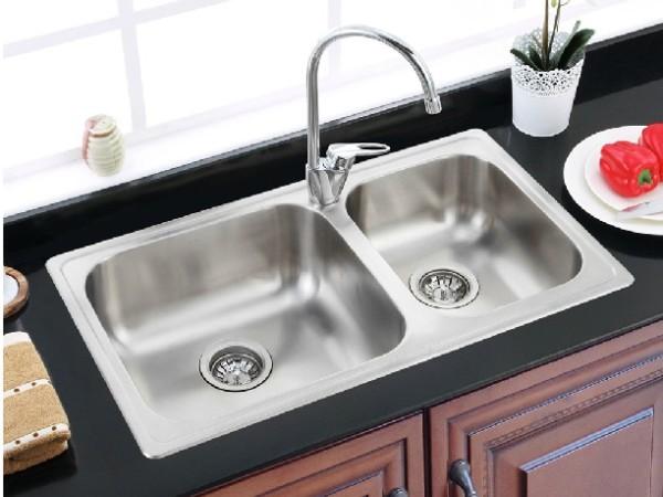 摩恩 厨房不锈钢水槽双槽套装 苏珊28104SLS