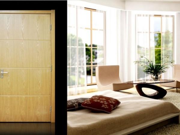 依品木门 本色BS011套装门 实木复合烤漆门