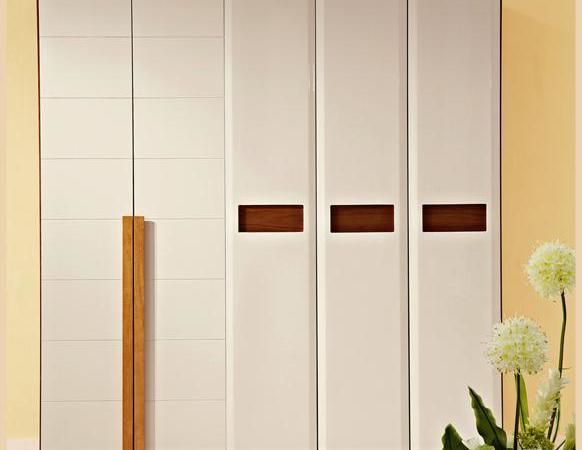 林氏木业原木色整体大衣柜 中式开门组合实木大衣橱AG011
