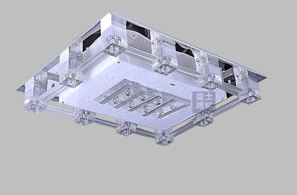 雷士照明led水晶灯长方形吸顶带分控NVX1295/12