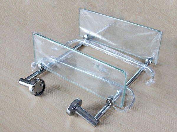 百德嘉双层玻璃置物架