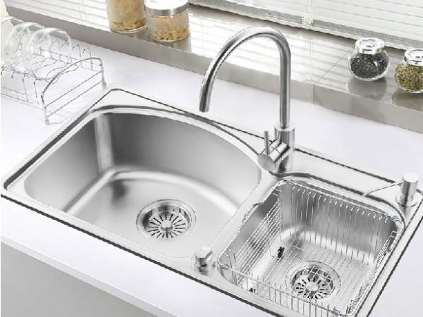 普乐美 304高级不锈钢加厚厨房洗菜盆FS731