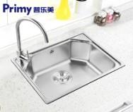 普乐美 不锈钢双槽厨房洗菜盆JS215图片
