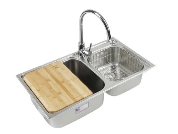 韩国白鸟 304不锈钢一体成型加深洗菜盆S77432