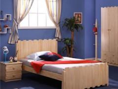 松堡王国实木儿童家具 实木双人床 单层床 RC001S
