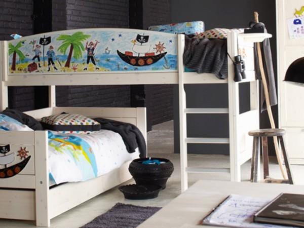 斯堪维亚旗lifetime 原装进口儿童家具全实木儿童上下床