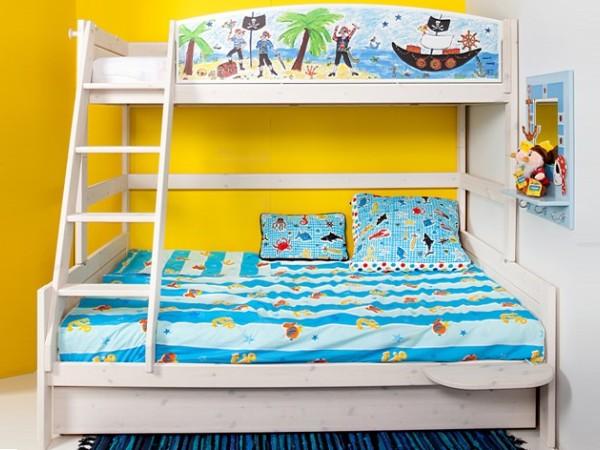 斯堪维亚旗下进口高低床双层实木子母床松木儿童床