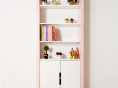 斯堪维亚suwem 儿童书柜储物柜书橱实木带门橱柜