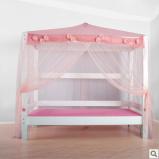 斯堪维亚suwem儿童床 公主帐幔床 女孩带护栏图片