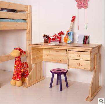 斯堪维亚suwem 进口儿童学习桌 实木书桌 可升降可倾斜