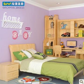 松堡王国实木儿童堡床单层床 C018s 王国单人床