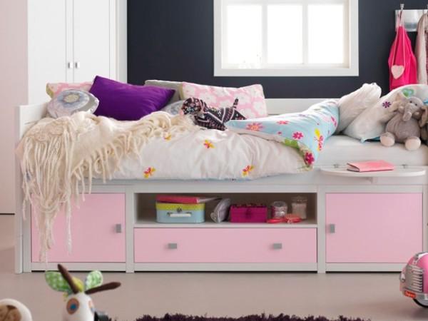 斯堪维亚旗lifetime 进口儿童床全实木儿童沙发床储物床