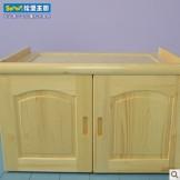 松堡王国实木儿童家具实木两门顶柜储物柜SP-G009