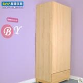 松堡王国 实木两门一抽衣柜 芬兰松水性漆SP-RG002