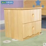 松堡王国实木儿童家具 实木床头柜 储物柜 SP-RB001
