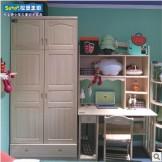 松堡王国家具4门衣柜顶柜储物柜芬兰松水性漆SP-G015