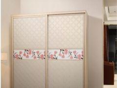 【欧派衣柜】皮纹刺绣 趟门衣柜 新品上市 整体衣柜