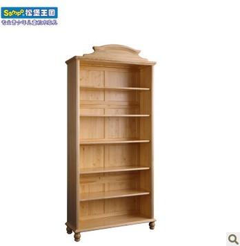 松堡王国韩式书柜实木书柜芬兰松水性漆SP-HS002