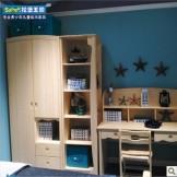 松堡王国两门衣柜 韩式衣柜芬兰松水性漆SP-RG003