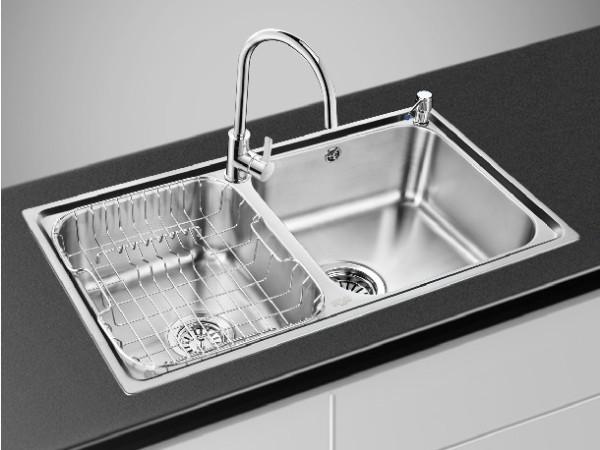 欧琳 厨房专用加厚不锈钢洗菜盆83460