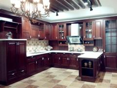 科隆橱柜实木系列南美樱桃木整体橱柜