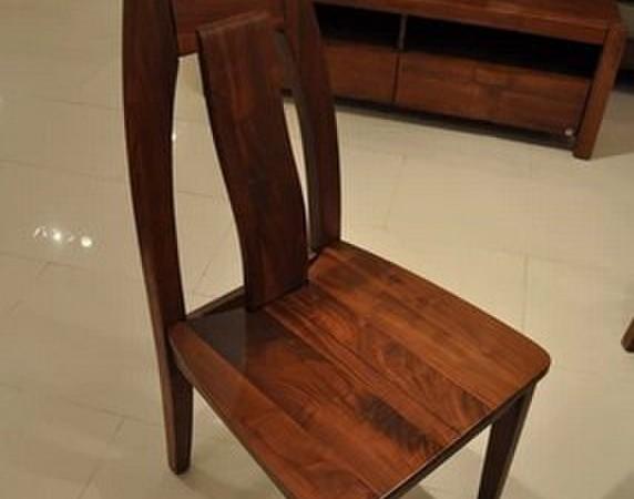 柏森高端实木家具 实木餐椅 餐凳 内敛 巴西胡桃木