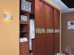 索菲亚C8框白蔷薇腰线尼斯百叶推拉门定制衣柜 现代简约整体衣