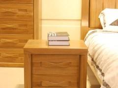 北欧丽木家具厂厂家直销实木床头柜榆木床头柜床边柜BO-B01