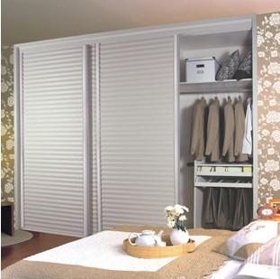 索菲亚冲浪百叶门定制衣柜定做推拉门移门衣柜白色卧室整体大衣柜