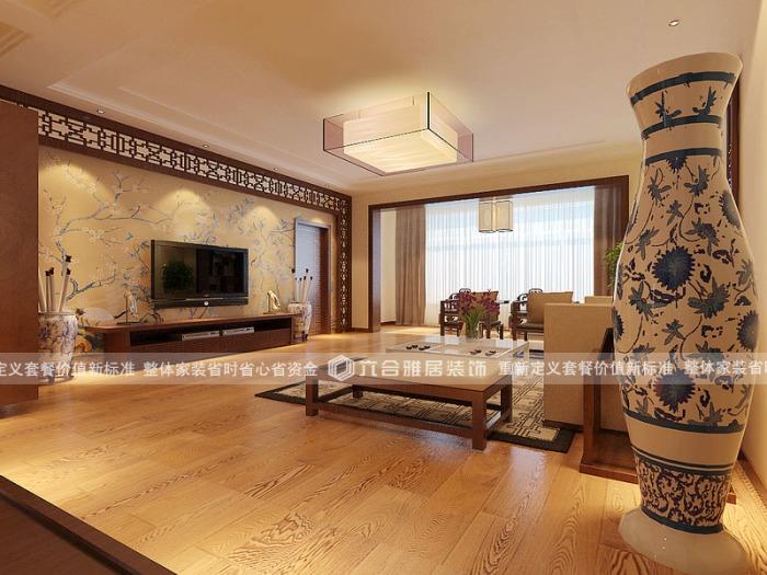 中式古典-136平米三居室-装修样板间