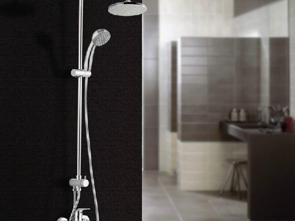 MOEN摩恩全铜软链接带下出水淋浴花洒套餐123302EC