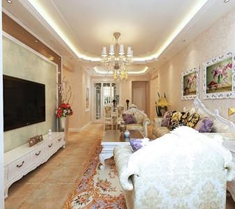 欧美风情-158平米一居室装修样板间