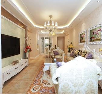 欧美风情-158平米一居室-装修样板间